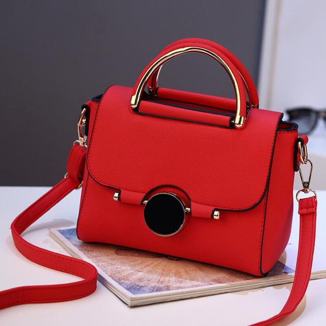 Modern Women Top Curved Handle Handbags Lady Tote Purses Small