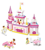 Sluban Pink Dream Learning Education Princes Series Castle Kids Gift Building Block Set Girl Brick Toy