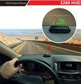 Cabeça-Up Display carro E260 4 Polegada Auto Projetor HUD OBD II Sistema de Alerta de Excesso de Velocidade Do Veículo Aviso MPH com Anti-slip Pad combustível