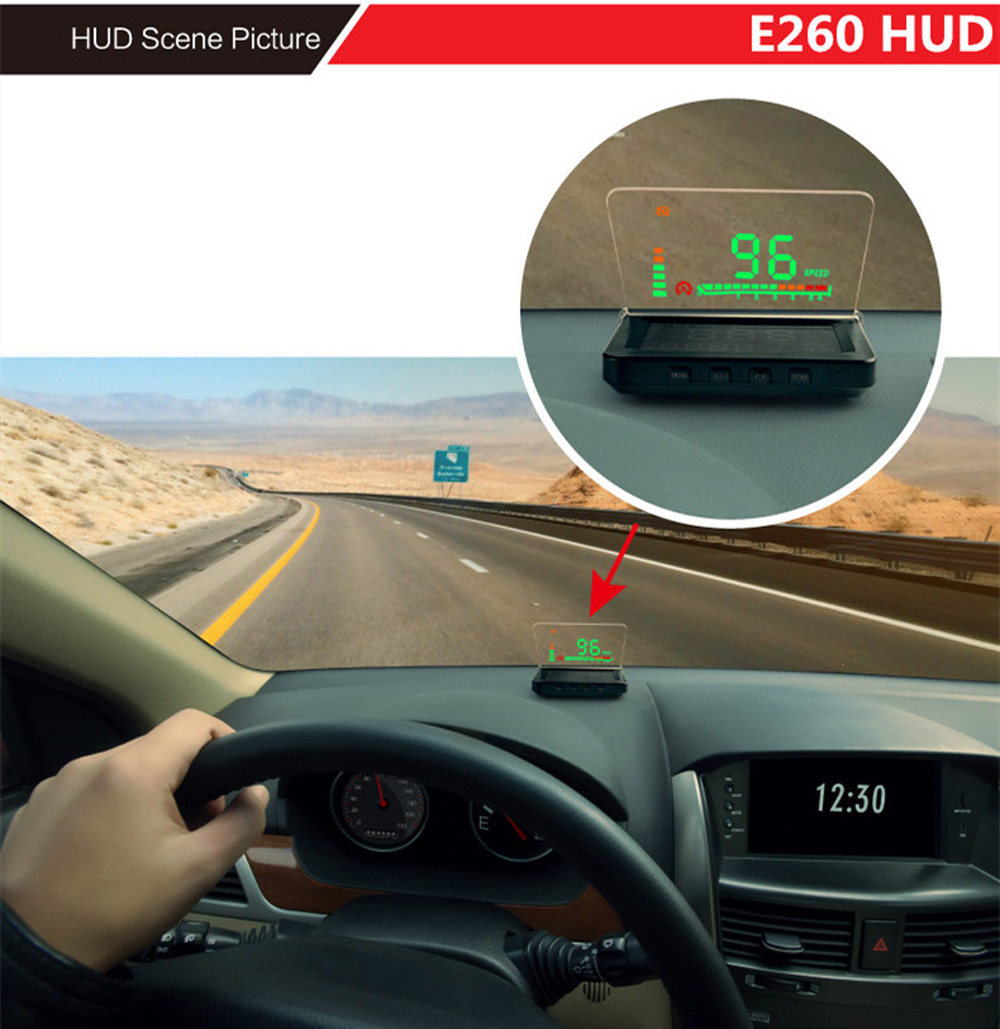 buy car head up display e260 4 inch auto. Black Bedroom Furniture Sets. Home Design Ideas