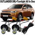 2X Super Bright For M.i.t.s.u.b.i.s.h.i Outlander EX SUV 2014-2015 DRL Daytime Running Lights & Front Turn Signal All In One