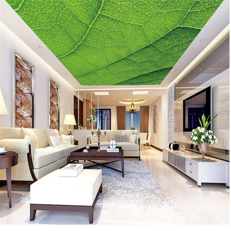 custom 3d modern minimalist photo wallpaper living room large background ceiling wall mural luxury green leaves veins wallpaper beibehang customize universe star large mural bedroom living room tv background wallpaper minimalist 3d sky ceiling wallpaper