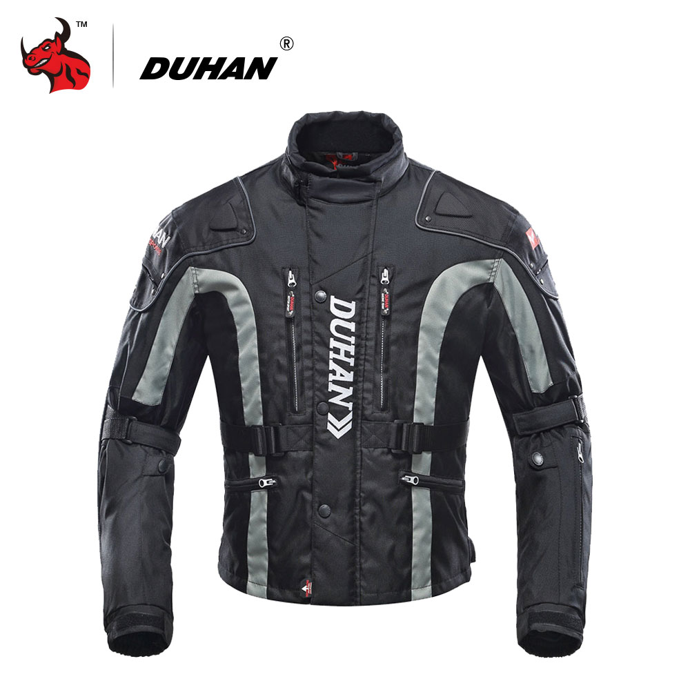 DUHAN Motorcycle Jacket Motocross Equipment Gear Cotton Underwear Cold-proof Moto Jacket Oxford Cloth  Moto 4 Color