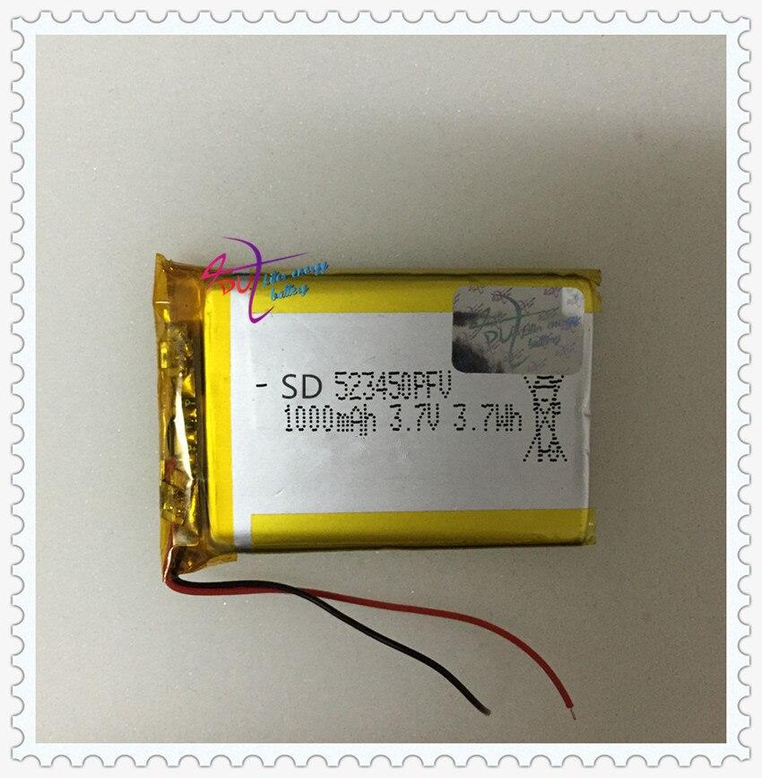 LED lamps <font><b>523450</b></font> 1000mAh lithium polymer <font><b>battery</b></font> <font><b>Battery</b></font>