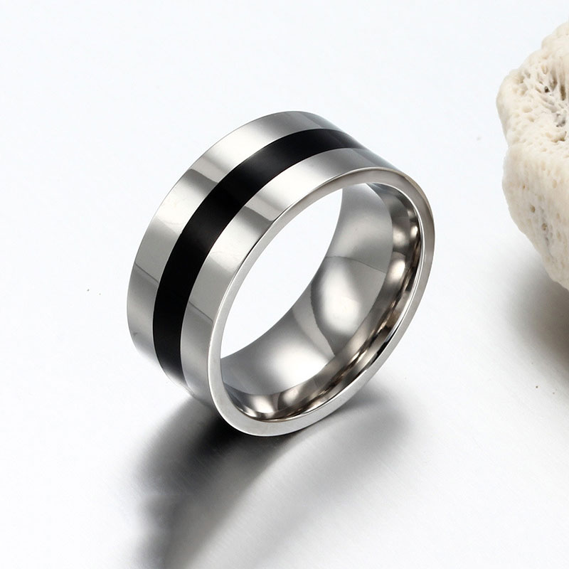 Black Paint Ring Stainless Steel Punk Wedding Rings For Women Men Jewelry Usa Size 6 To 13 In From Accessories On Aliexpress Alibaba