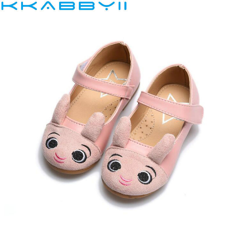 2018 New Fashion Children Single Shoes Cute Girls Princess Dance Shoe Kids Cartoon Rabbit Breathable Shoes Toddler Shoes