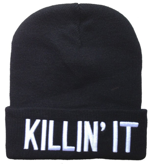 3D Embroidered Words Winter Knitted Warm Killin It Beanie Hat For Women,  Mens Skullies-in Skullies & Beanies from Men's Clothing & Accessories on ...