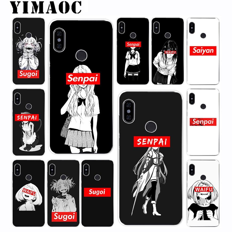 YIMAOC Sugoi Senpai Anime Waifu Soft TPU Silicone Case for Xiaomi Redmi 6 5A 5 S2 Puls Note 5 4X 4 4A Pro