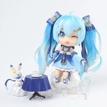 Nendoroid 2017 Hatsune Miku Anime Figure Snow Miku Twinkle Hatsune Dolls Action Figure Christmas Gifts