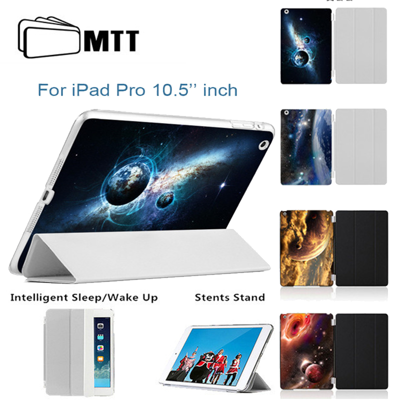 MTT 2017 new Cosmic space Print PU Leather Case For Apple iPad Pro 10.5 inch Case Flip Thin Smart Cover For iPad 10.5 Cases case cover for goclever quantum 1010 lite 10 1 inch universal pu leather for new ipad 9 7 2017 cases center film pen kf492a