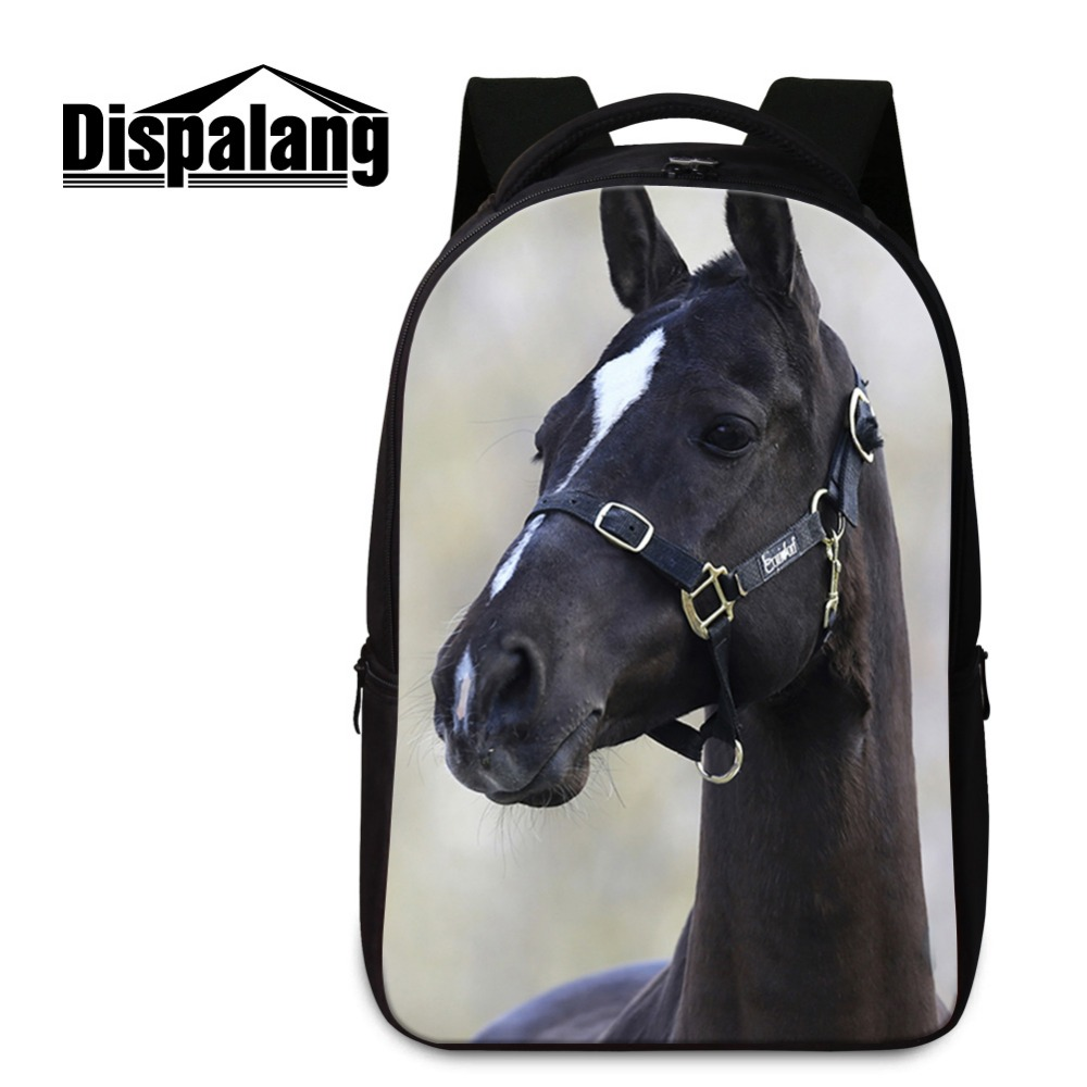 Best College Backpacks Pattern Laptop Computer Bookbags for Boys Teen Girls School Bags Cool Horse Mochilas Back Pack Magazine