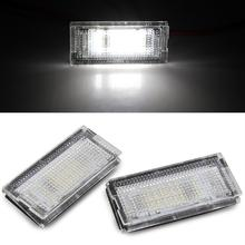 Qook 2piece White 18 LED License Plate Lights Lamps Bulbs for BMW E46 4D (98-03)   Number Plate Lamp