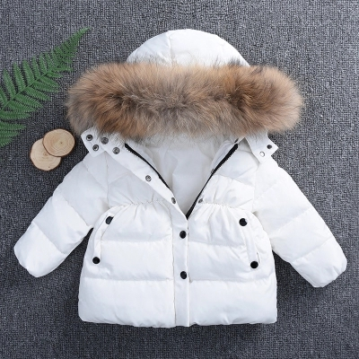 52c72e341 New Stylish baby clothes super warm jacker over 90% under ultra light baby  girl boy winter coat with cap kids zipper clothes