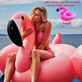 150CM 60 Inch Giant Inflatable Flamingo Pool Float Pool Inflatable Toys Cute Ride-On Pool Swim Ring Holiday Flamingo Pool Float