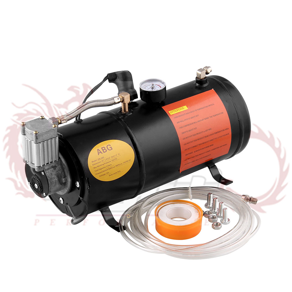 12v Air Compressor with 3 Liter Tank for Air Horn Train Truck RV Pickup 125 PSI OT200 bk-in Multi-tone & Claxon Horns from Automobiles & Motorcycles    1