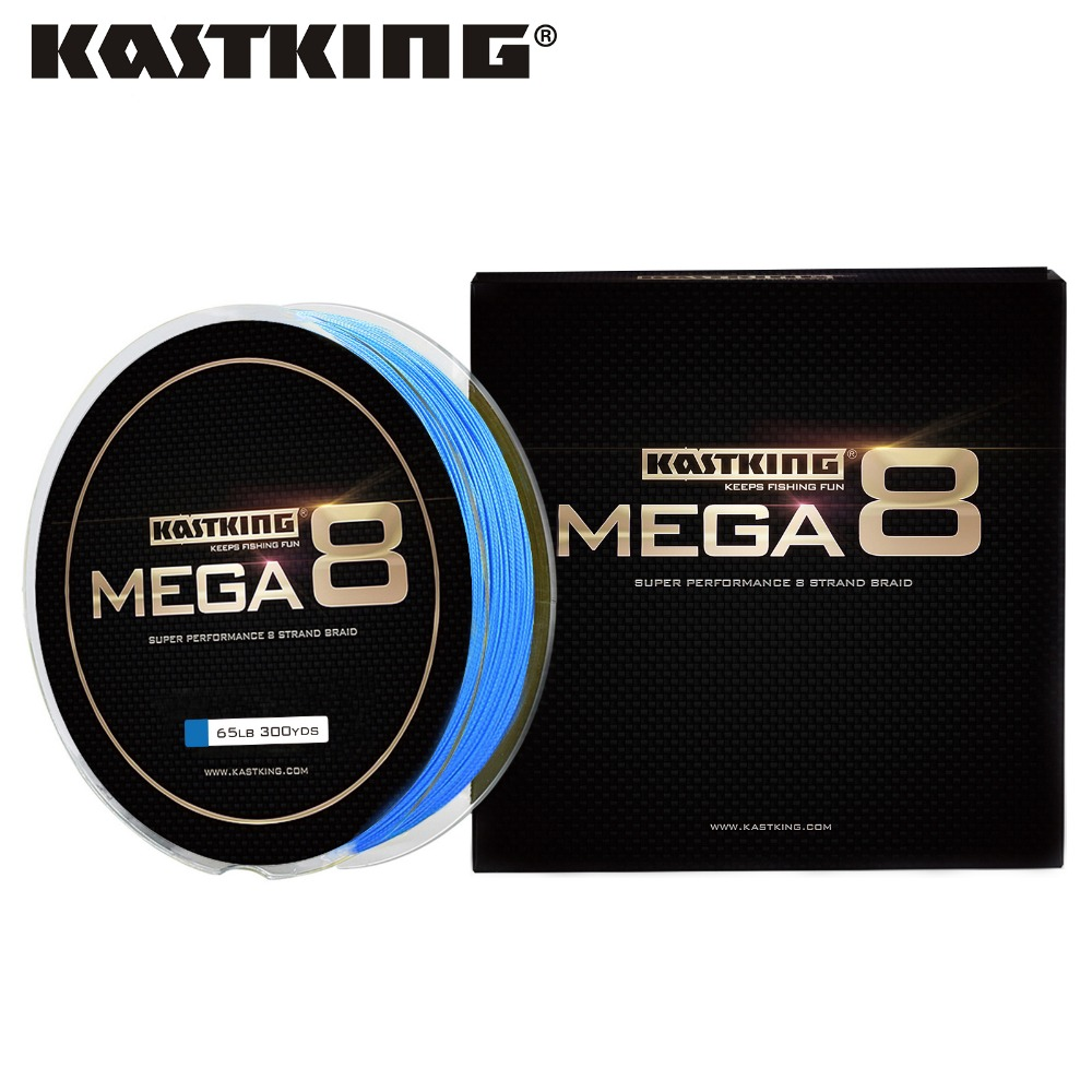 KastKing 274M Mega 8 Fishing Line Saltwater and Freshwater Fishing 8 Strands Braided Line 10LB-80LB Super Strong Braid
