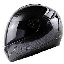 DOT Carbon Fiber Motorcycle Helmets Double Lens Racing Safety Full Face Moto Helmet Casco Capacete M