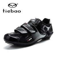 Tiebao Athletic Bike Lock Shoes MAGIC TAPE fastener Road Bike Shoes Quality Professional Road Shoes