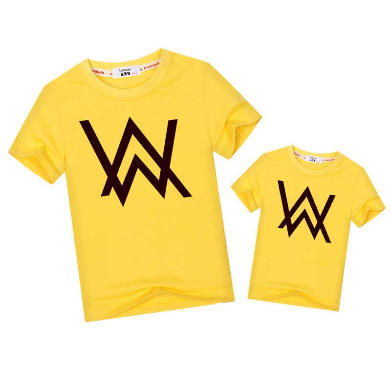 42ba044612 ... De moda camisetas de hijo de padre de familia juego ropa Alan Walker familia  trajes de ...