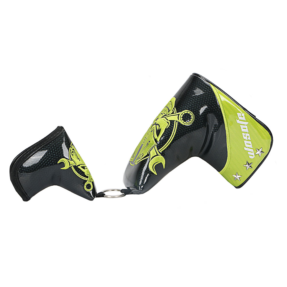NEW Bright surface PU Golf Putter Cover Protect Headcover Golf Blade Cover golf Accessories free shipping