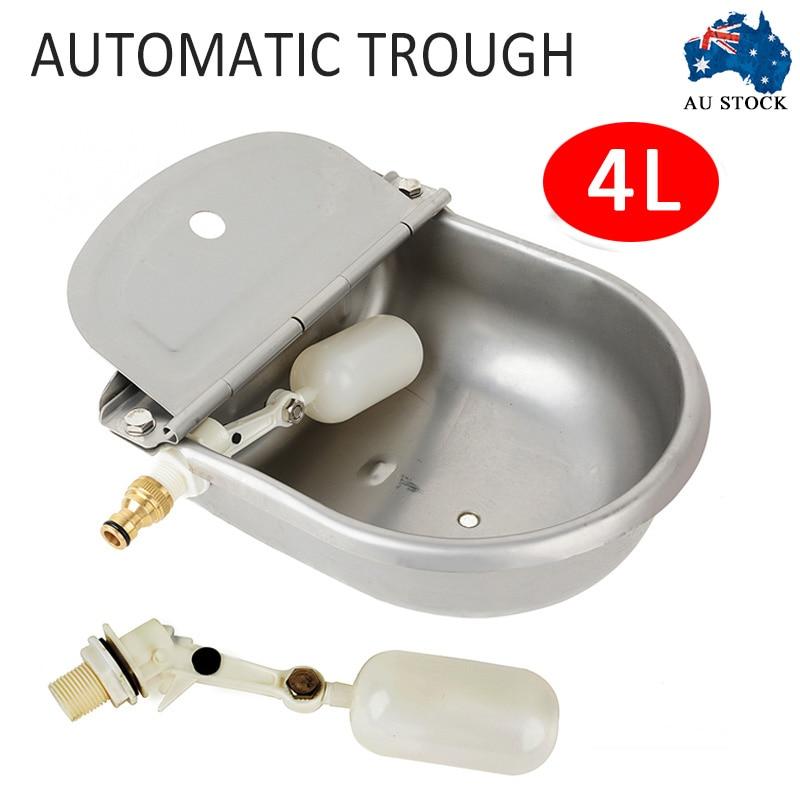4L abreuvoir automatique en acier inoxydable mouton chien poulet vache Auto remplir bol alimentation arrosage fournitures 2 Styles MAYITR