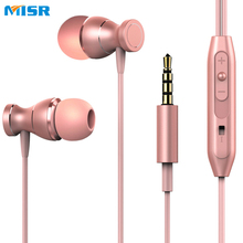 MISR MT5 Wired Earphone Magnet With Mic Microphone Stereo Metal In-Ear Headset For Phone iphone samsung huawei xiaomi
