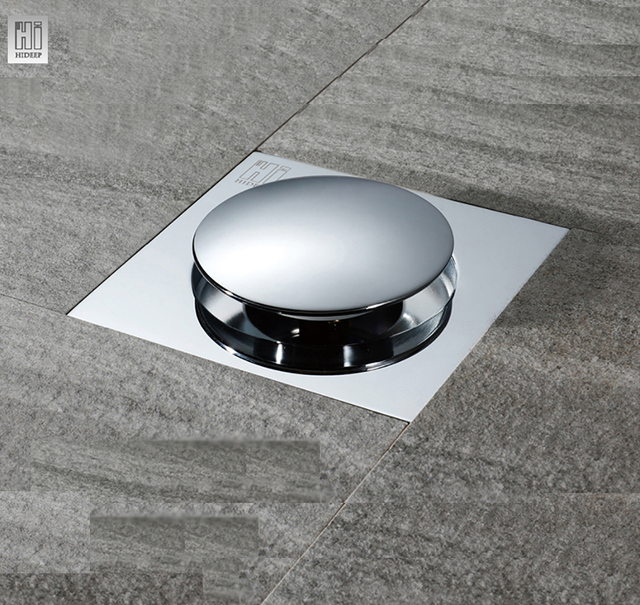 Gentil HIDEEP Bounce Type Floor Drain Cover Washing Drainer Dedicated Shower Floor  Grate Drain Brass Bathroom Kitchen