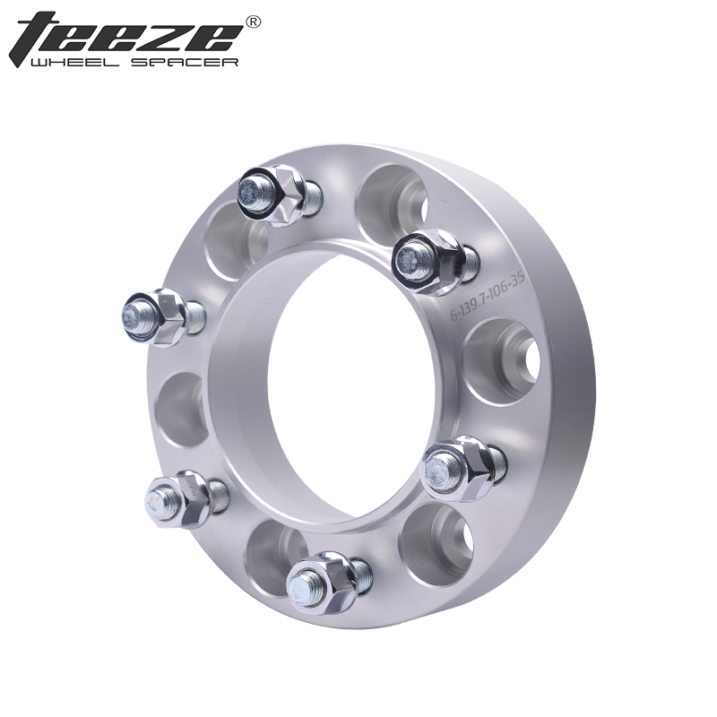 TEEZE - (1PC) Tire Accessories Aluminum 6x5.5'' Wheel Adapters Wheel Spacers 6x139.7 CB 93.1 for Mazda BT-50 Separador de rueda teeze 4pcs new billet 5 lug 14 1 5 studs wheel spacers adapters for audi q7 2006 2014