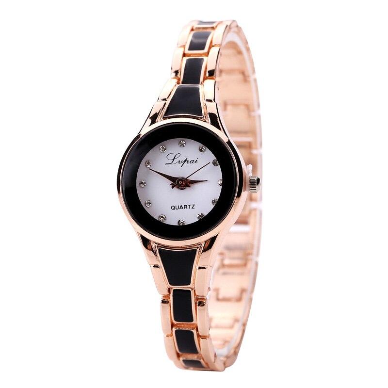 Relógios marca de luxo de forma Malha de Aço Inoxidável