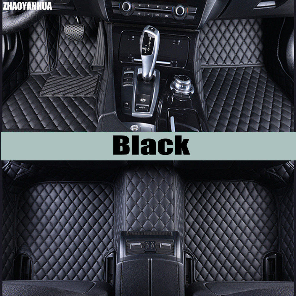 ZHAOYANHUA Car floor mats for Peugeot 206 207 2008 301 307 308sw 3008 408 4008 508 rcz car styling carpet floor liner custom fit car floor mats for peugeot 206 207 2008 301 307 3008 408 4008 508 car styling carpet floor liner