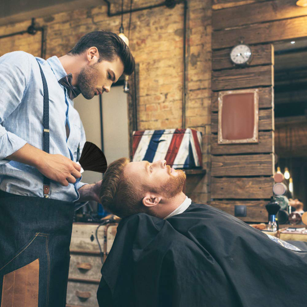 Купить с кэшбэком New Professional 1PC Hair Salon Cape +1PC Neck Duster, Black Head Hairdressing Cape For Adult, Hair Cutting Cape Salon Tool J75