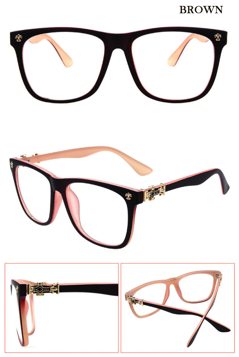 0d6557236a5 Fashion Optical Reading eyeglasses cross logo frame women men Unisex brand  plain Alloy spectacles frame Spectacle Retro diamond