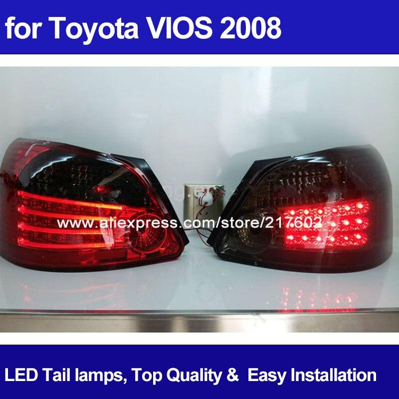 Для Toyota Vios светодиодные задние фонари 2008 год светодиодные задние лампы для замены Одежда высшего качества yz