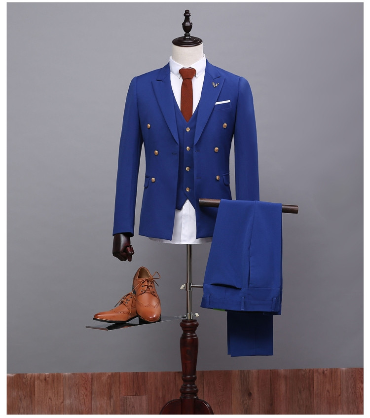 Popular Men's Royal Blue Double Breasted Suit-Buy Cheap Men& ...