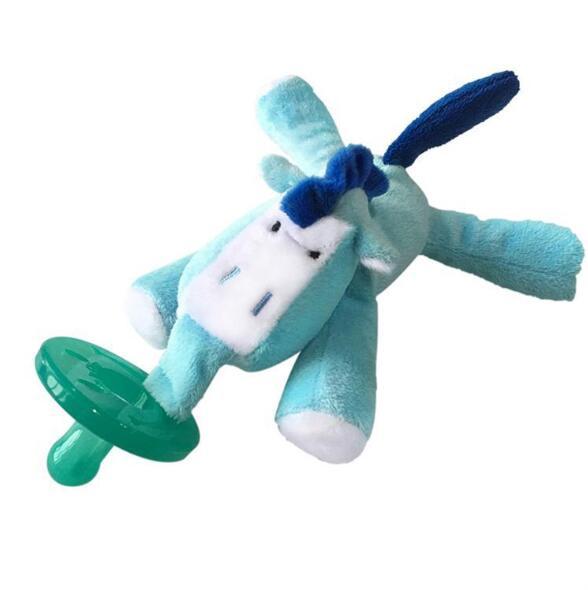 Милая Детская плюшевая игрушка, соска для новорожденных мальчиков и девочек, мультяшная Соска-пустышка Силиконовая пустышка, соска, аксессуары для кормления - Цвет: Cow