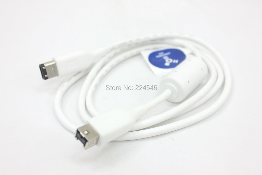 Original Genuine W Digital IEEE-1394B Firewire 800 to 400 9-pin/6-pin White Cable 1.25m 4064-705049-032 delonghi fh 1394 white