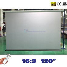 On sale Rear Motorized Projector Screens 120 inches 16:9 Electric Projection Screen pantalla proyeccion for LED LCD HD Projectors