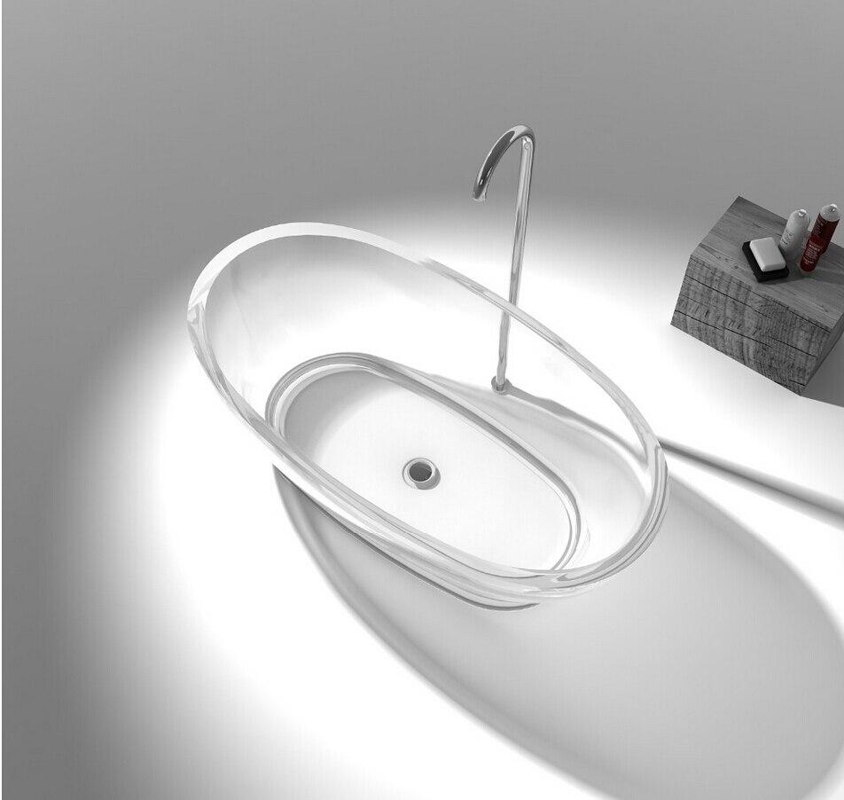 1600x850x580mm rÉsine acrylique ovale couleur tubstone surface