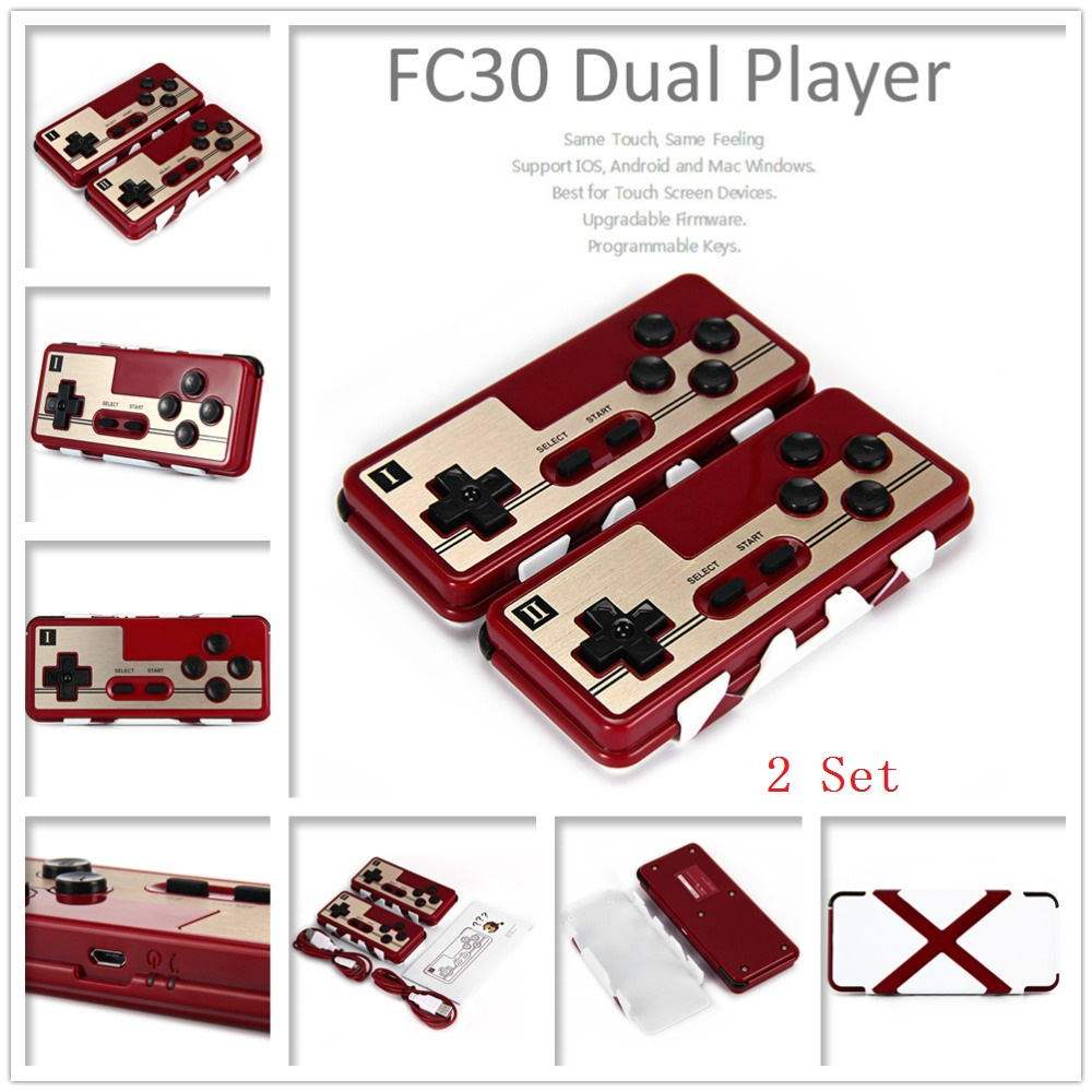 2 Pcs/Lot 8Bitdo FC30 Dual Player Wireless Bluetooth Gaming Gamepad Game Controller Joystick for iOS Android PC Mac Linux