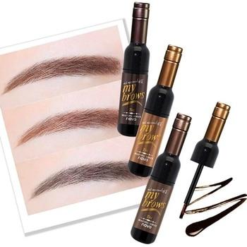 Eye Brow Makeup Maquiagem 3D Peel Off Eyebrow Gel + Eyebrow Stencil Natural Eyebrow Tint Tattoo Mascara Brushes Beauty