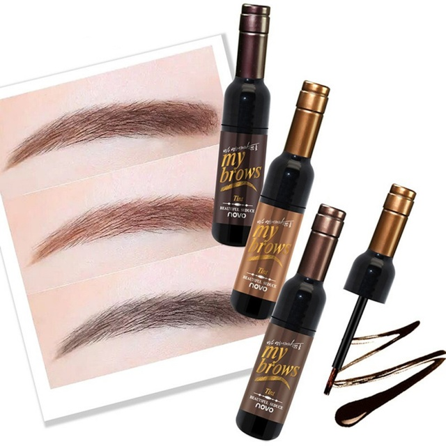 Eye Brow Makeup Maquiagem 3D Peel Off Eyebrow Gel + Eyebrow Stencil Natural Eyebrow Tint Tattoo Mascara Brushes Beauty