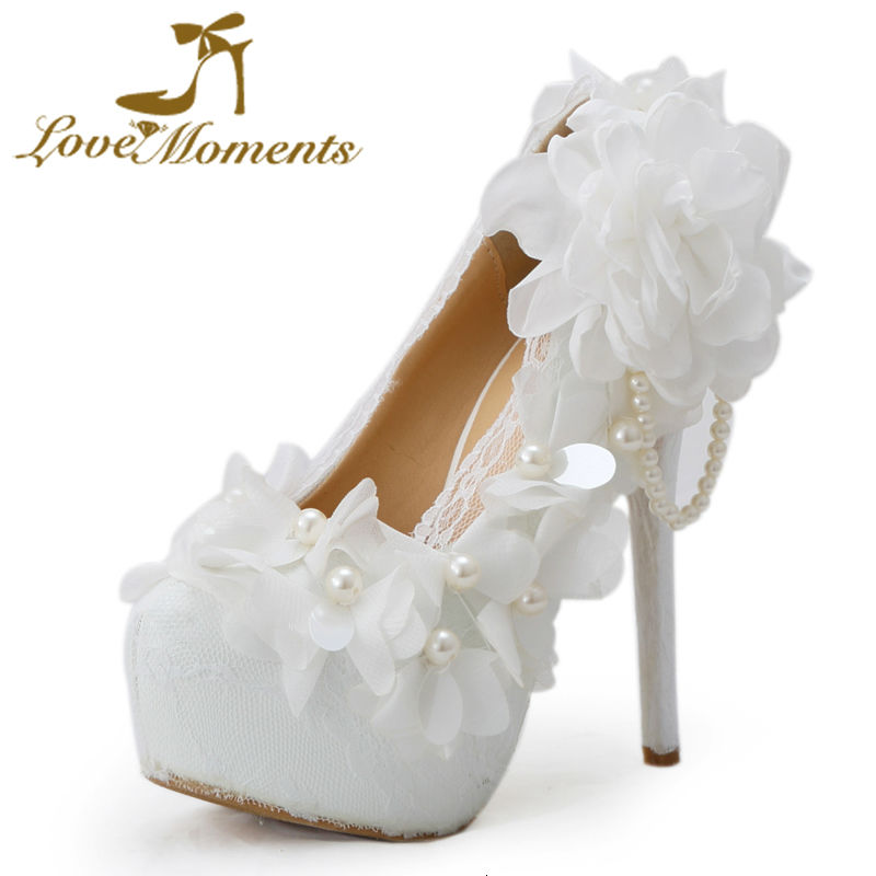 Love Moments women shoes Lace high heels wedding shoes bride banquet formal Wedding dress Ceremony shoes white shoes woman love moments pearl shoes woman white and red wedding shoes bride pumps high heels platform dress party shoes for women ladies