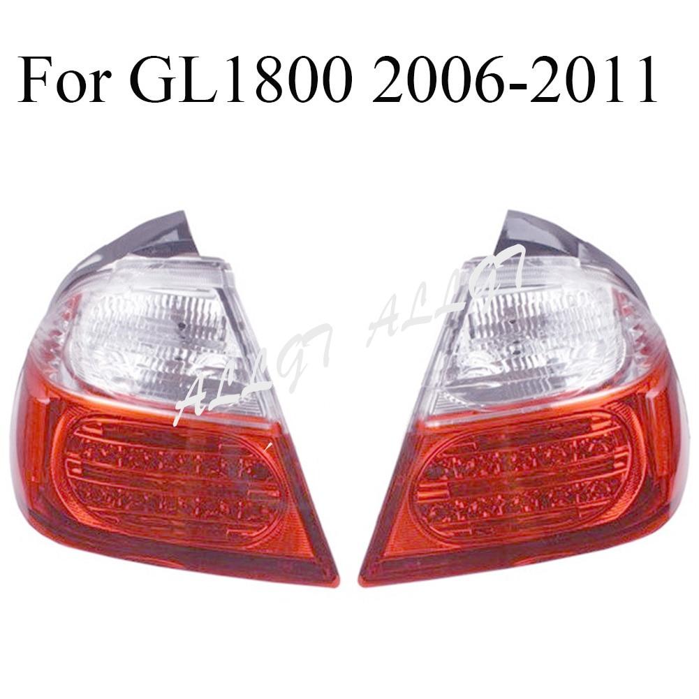 Motorcycle Tail Light Lower Right&Left Turn Signal Lens Blinker Cover Fit For Honda Gold Wing GL1800 2001 2011