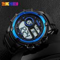 SKMEI Outdoor Sports Watches Men Fashion Outdoor Digital Wristwatches LED Shock Resistant Alarm Waterproof Watch Men Wristwatch