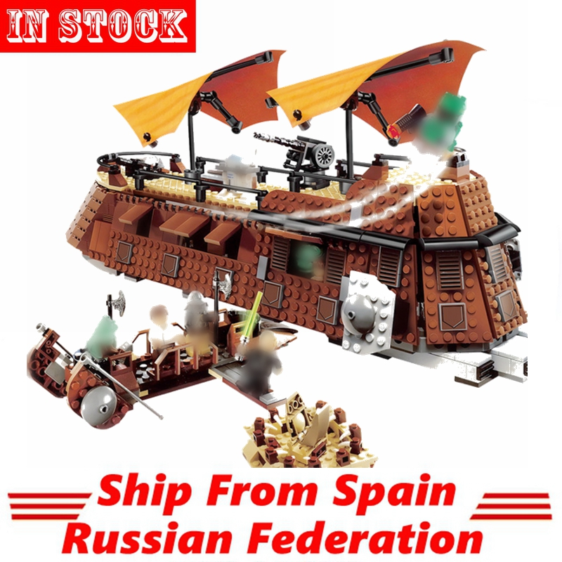 Compatible Starwars STAR Plan The Jabba s Sail Barge Space Wars Figures 821Pcs Building Block Toys