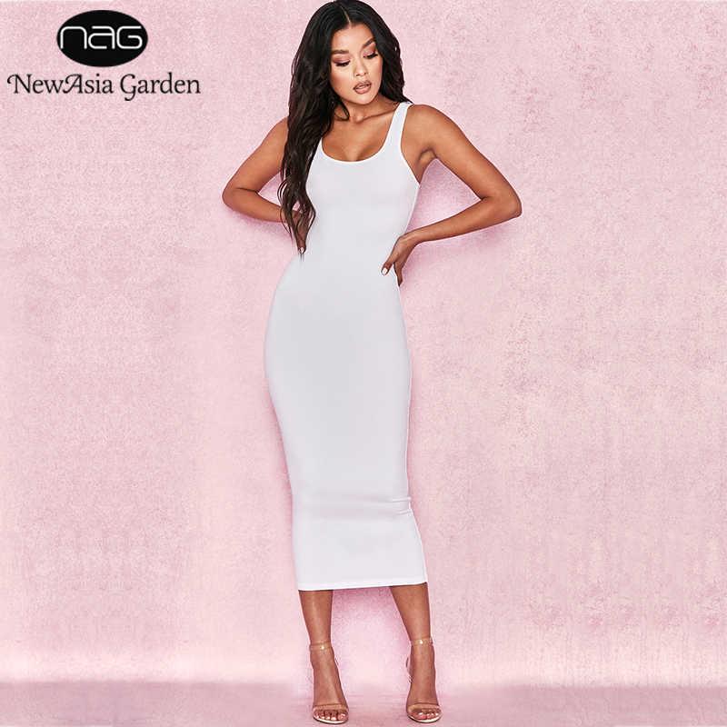 ce280c4ef87 Сад «Новая Азия» 2 слоя хлопка летнее платье Для женщин Длинные сексуальное  облегающее Платье