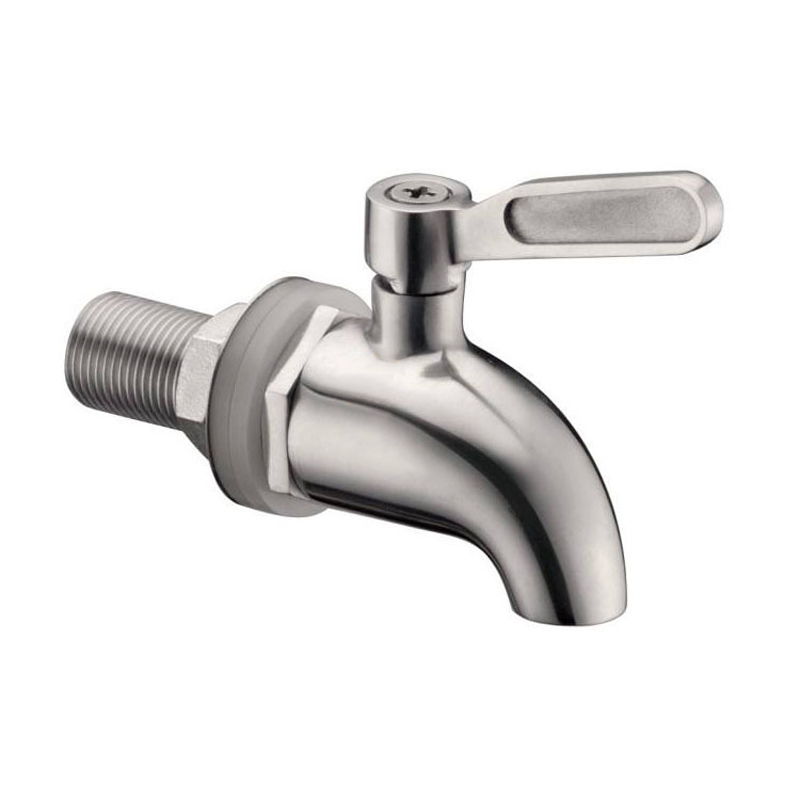 Beverage Dispenser Stainless Steel Replacement Faucet Tap Spigot for Barrel Fermenter Wine Beer KM88 in Beer Brewing from Home Garden