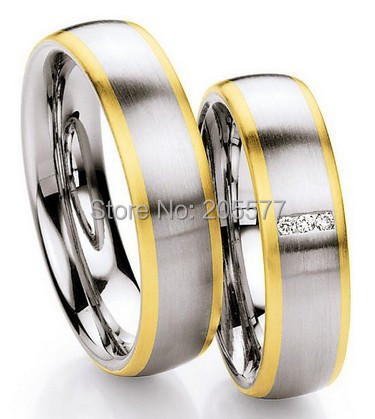 western gold plating custom 3 stone his and her wedding anniversary rings engagement rings sets for couples