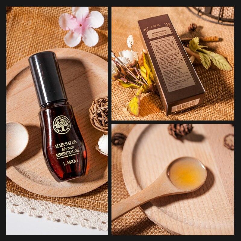 LAIKOU Morocco Argan Oil Hair Oil For Repair Damaged Hair Serum Treatment Moisturizing Hair Essence 40ml