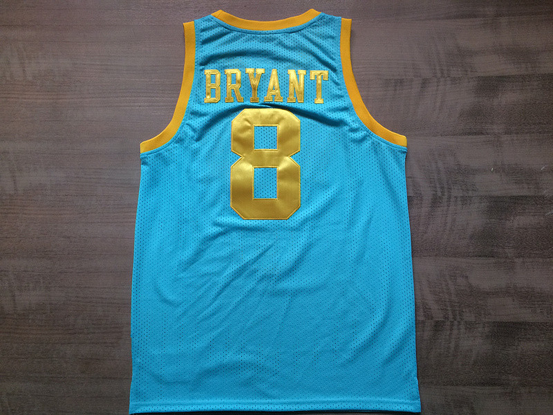 6ffa3dc64 ... 8 Kobe Bryant Light Blue Throwback Jersey